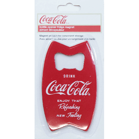 Authentic Coca Cola Coke Bottle Opener Fishtail Magnet New with