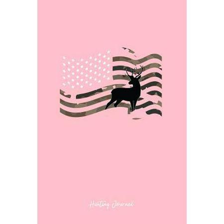 Hunting Journal: Dot Grid Journal - Deer Usa Flag Camouflage Black Hobby Hunter Gift - Pink Dotted Diary, Planner, Gratitude, Writing,