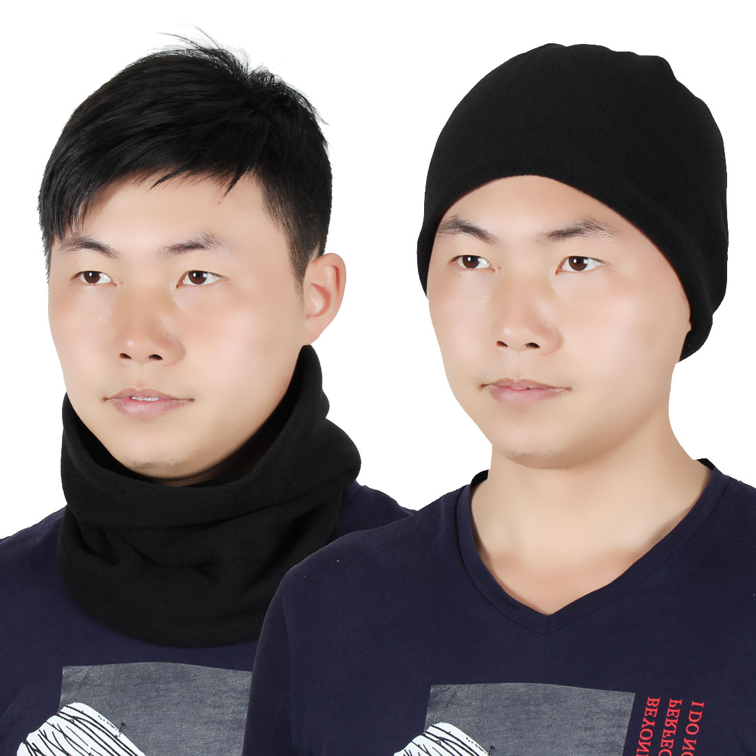 Adjustable Face Mask Winter Neck Tube Protector Outdoor Cycling Scarf Wrap Black by