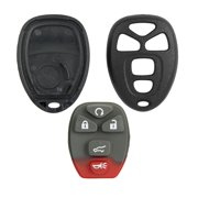 Keyless2Go New Replacement Shell Case and 5 Button Pad for Remote Key Fob with FCC OUC60270 - SHELL ONLY
