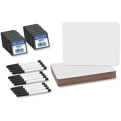 """Flipside Products Dry Erase Board Set 9-1/2""""x12"""" 12/PK Wh..."""