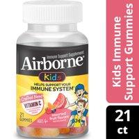 Airborne Kids Immune Support Gummies with Vitamin C, Assorted Fruit - 21 Gummies