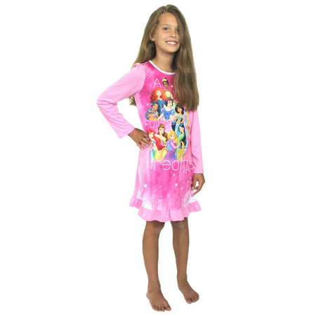 Disney Princess Girls Nightgown Pajamas (Little Kid/Big Kid) 21DP255GDL (Kids Gowns)