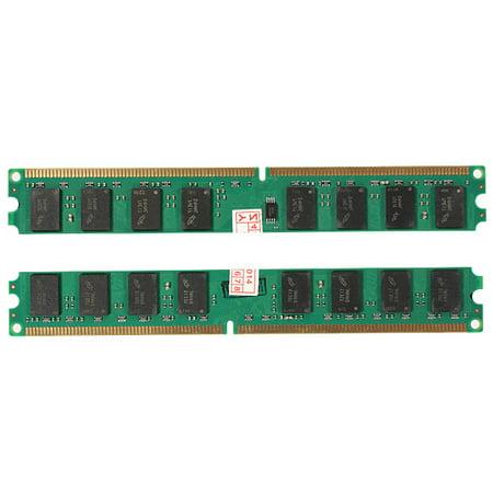2Pcs x 2GB DDR2 PC2-5300 5300U DDR2-667 MHZ MEMORY DIMM PC DESKTOP RAM 240