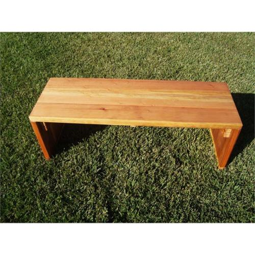 Best Redwood 3' Wood Patio Bench-Natural