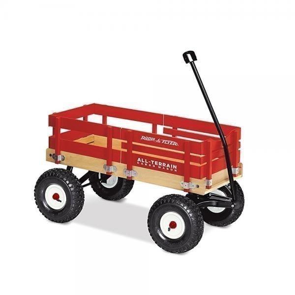 Radio Flyer, All-Terrain Wood Cargo Wagon, Air Tires, Red by Radio Flyer Inc