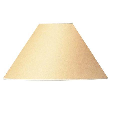 Cal Lighting Round Hardback Lamp Shade - Cream (Runde Shades)