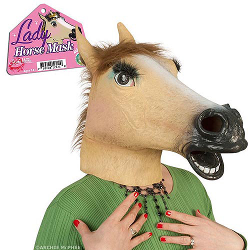 Accoutrements Lady Horse Mask Halloween Accessory