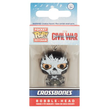 Marvel Pop! Pocket Keychain Civil War Captain America Crossbones Bobble-Head Figure Age 3+