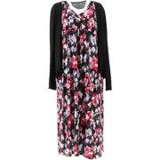 Carole Hochman Brushed Floral Lounge Maxi Dress Set Women's A346794