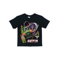 Personalized Monster Jam Grave Digger Black T-Shirt