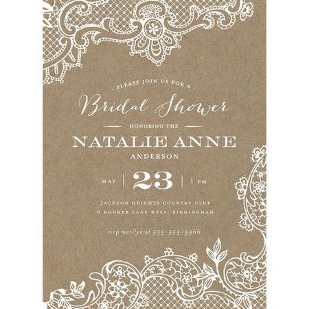 Loving lace standard bridal shower invitation walmartcom for Walmart wedding shower invitations