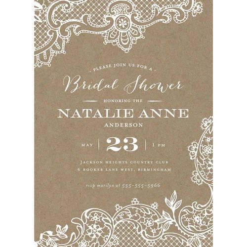 Walmart Com Wedding Invitations: Loving Lace Standard Bridal Shower Invitation