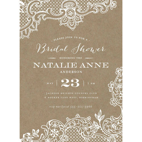 Loving Lace Standard Bridal Shower Invitation