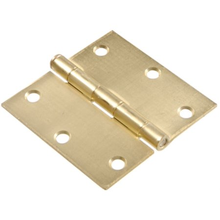Part 852608 3.5  Satin Brass Sq Hinge, by Hillman, Single Item, Great Value, New