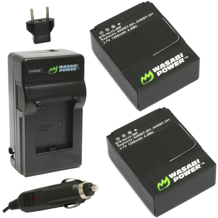 GoPro HERO3/HERO3  Charger & 2 Li-Ion Batteries Kit