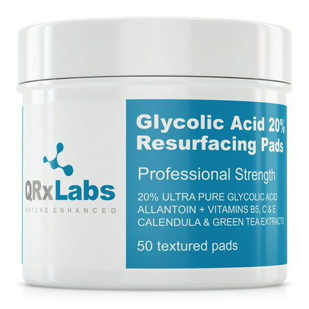 Glycolic Acid Hydrator - Glycolic Acid 20% Resurfacing Pads with Vitamins B5, C & E, Green Tea, Calendula, Allantoin - Exfoliates Surface Skin and Reduces Fine Lines and Wrinkles