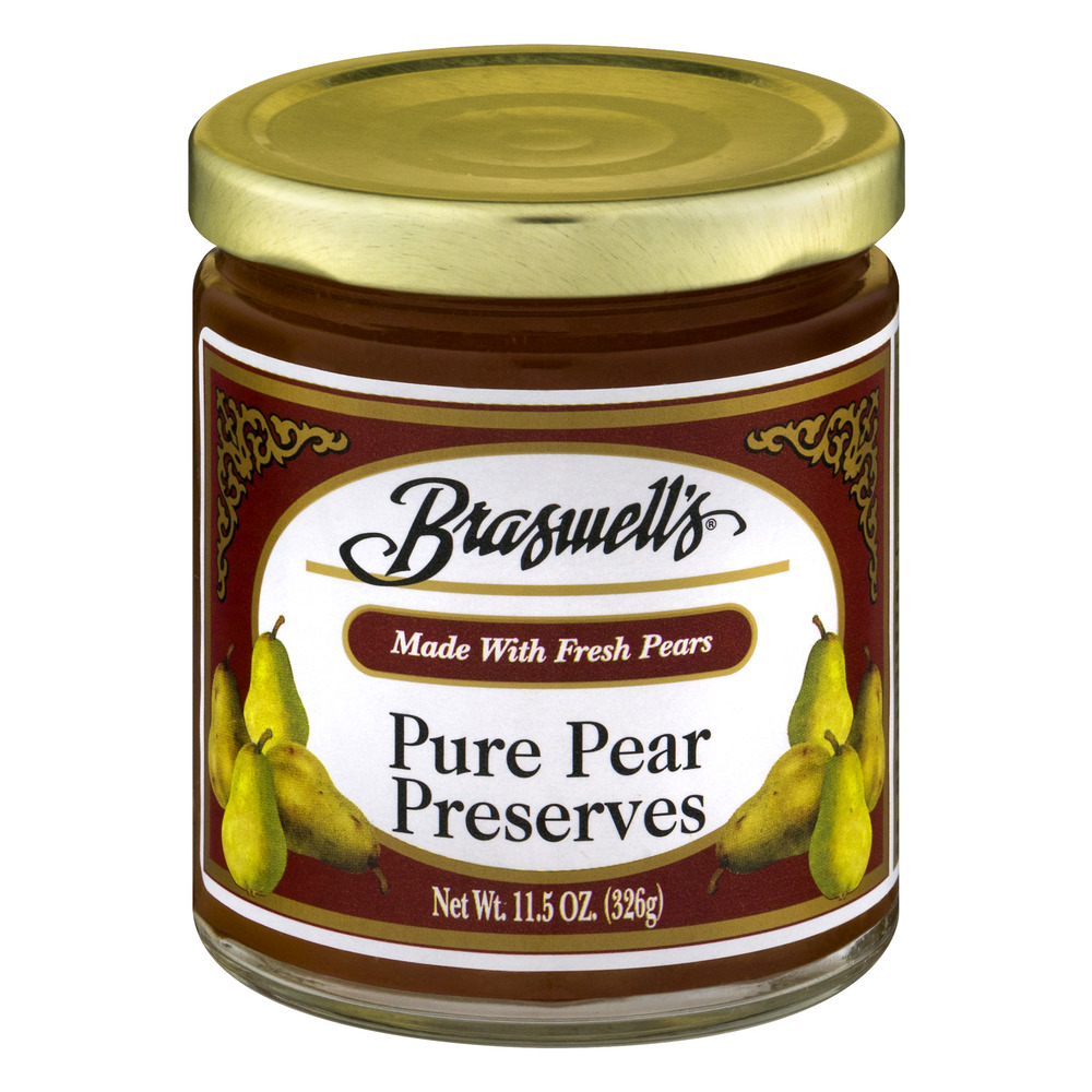 Braswell's All Natural Pure Pear Preserves, 11.5 oz
