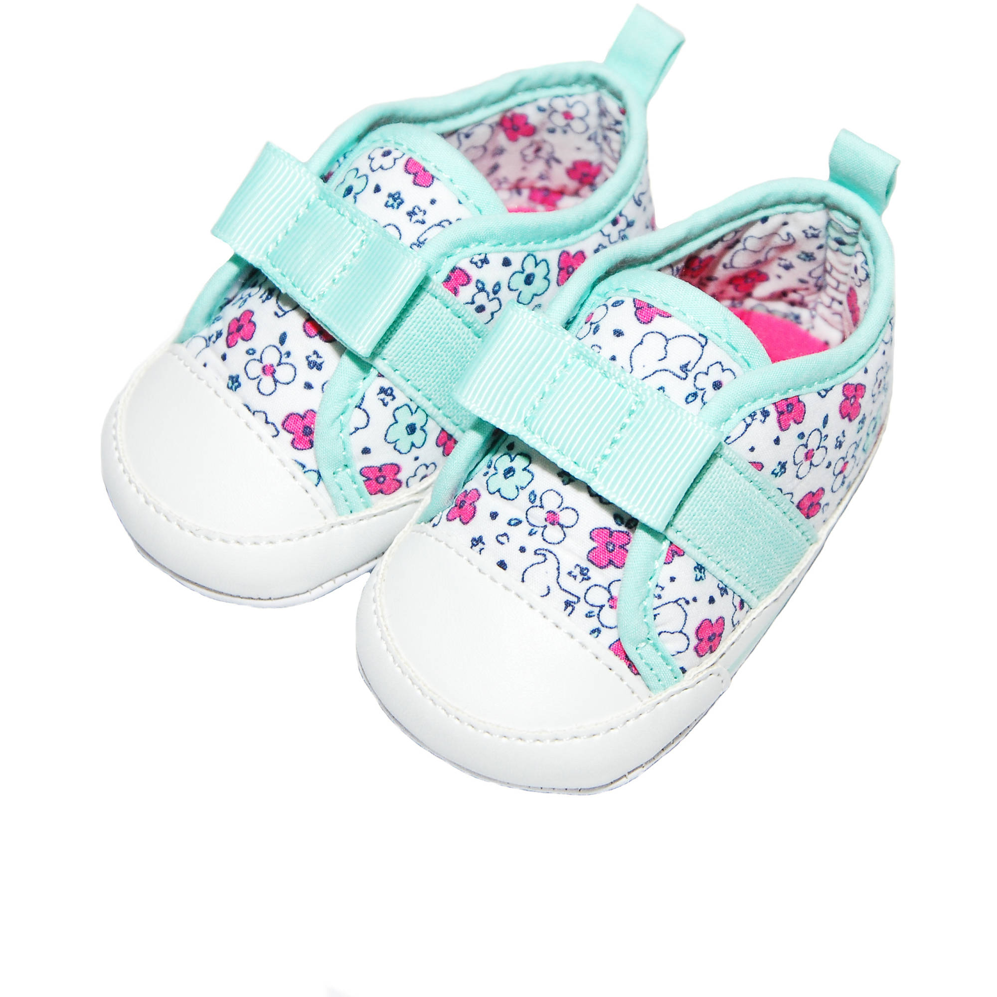 Child of Mine by Carter's Newborn Baby Girl Printed Laceless Sneaker, 0-3M