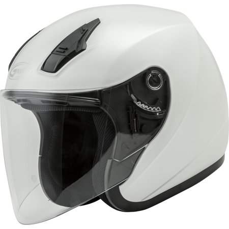 GMAX OF-17 Open Face Motorcycle/Scooter Helmet Pearl White Metallic