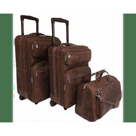 Leather Three Piece Set Traveler Organized Travelers Leather