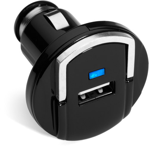 Bravo View 2.1A Compact USB Car Charger for iPod, iPhone and iPad