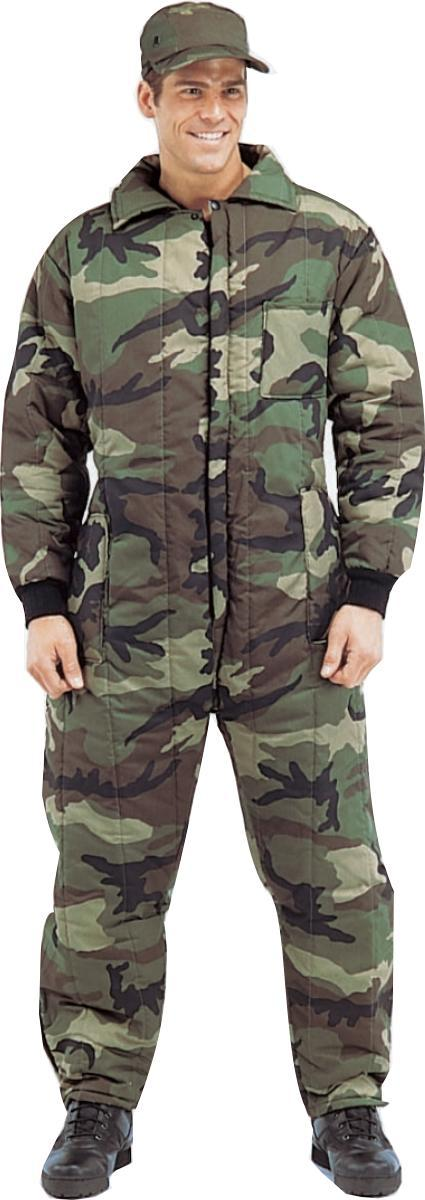 Men s Camouflage Insulated Coveralls - Walmart.com 5a2b67fd1ea