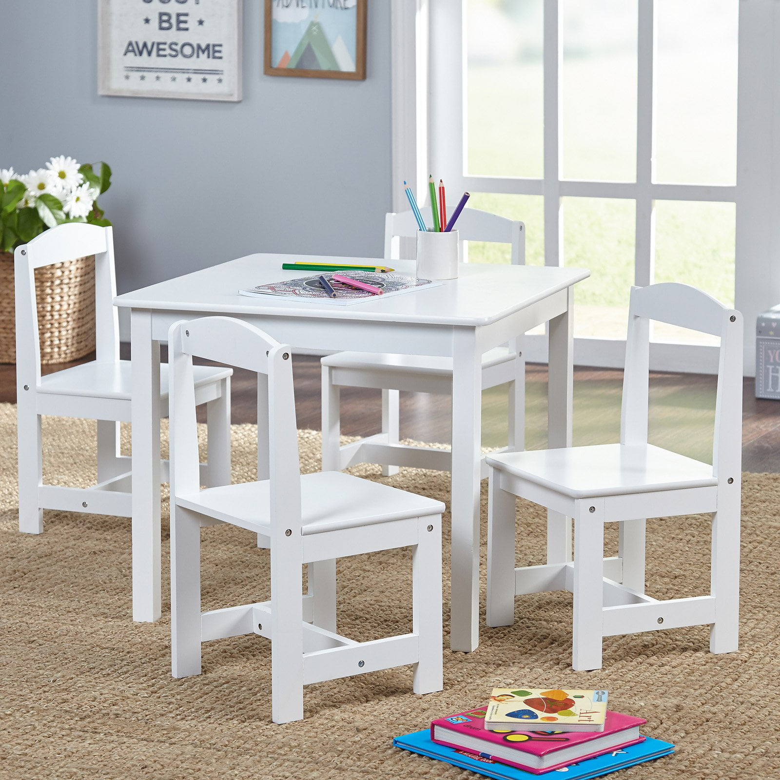 Tms Hayden Kids 5 Piece Table And Chairs Set Multiple