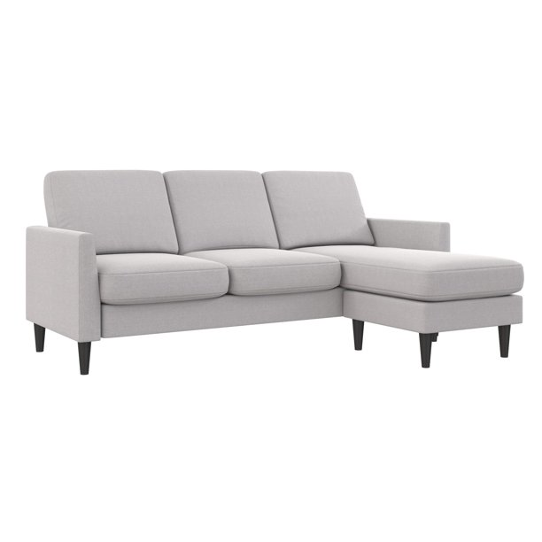Mr. Kate Winston Sofa Sectional, Light Gray Linen