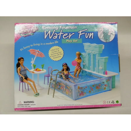 Dollhouse Pool - My Fancy Life Water Fun Pool Set for Dollhouse