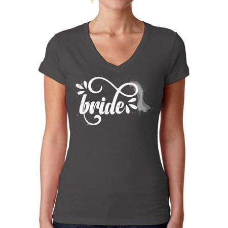 Awkward Styles Bride V-Neck Shirt Women's Bride Shirt Bridal Party Outfit Funny Bachelorette Party Shirts Wedding Gifts for Her Cute Outfit for Bride Wedding Party Tshirt V Neck Bride Shirts](Funny Bachelorette Gifts)