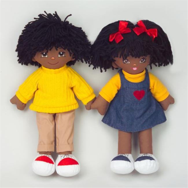 Dexter Educational Toys DEX306B Boy and Girl Dolls African American by Dexter Educational Toys Inc.