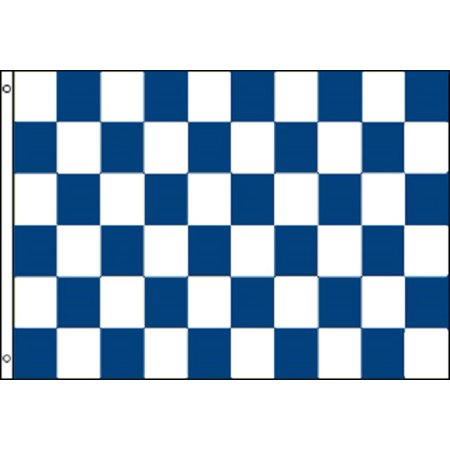 Sign Flag And Banner - Blue and White Checkered Flag Advertising Banner Store Sign Party Pennant 2x3
