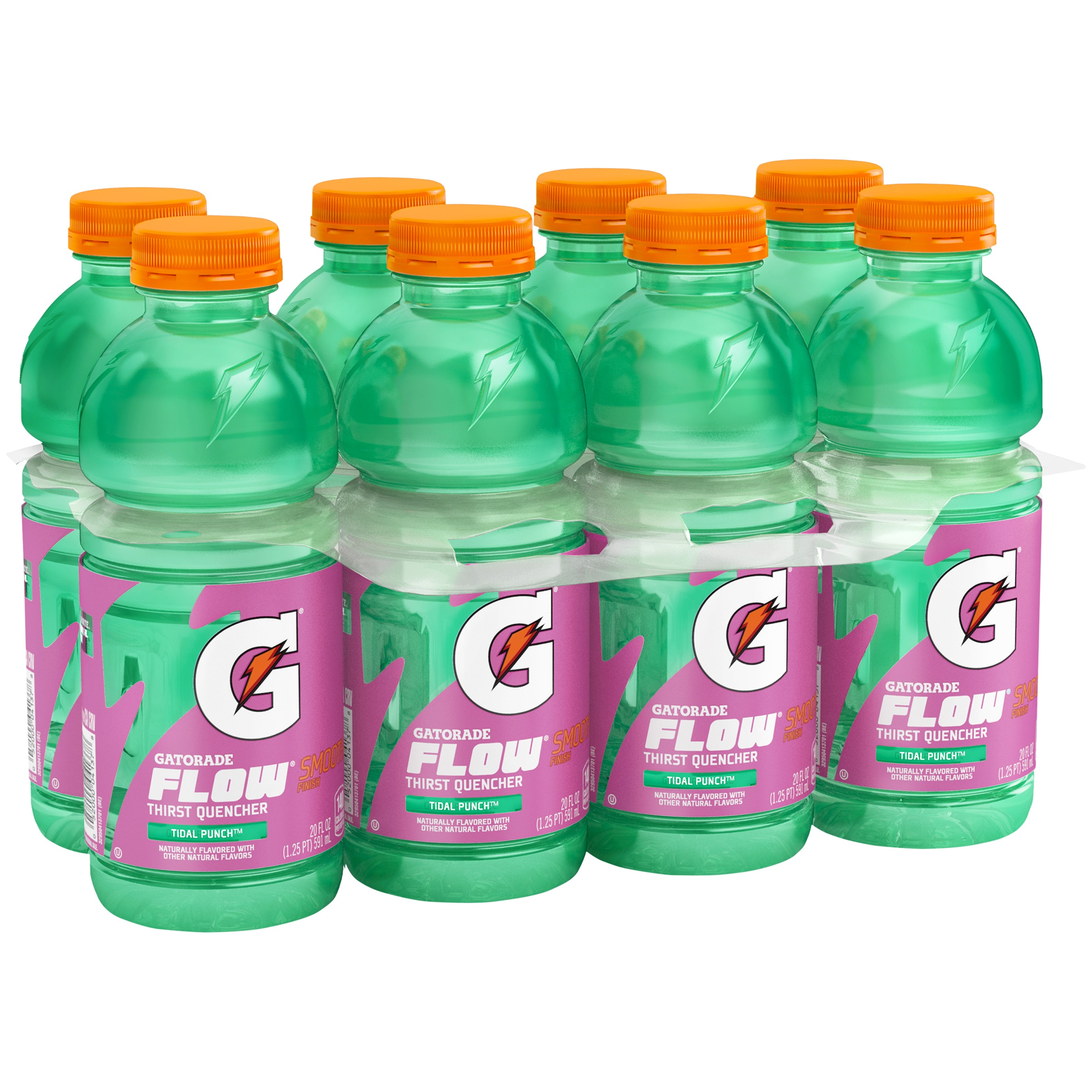 Gatorade Flow Tidal Punch Thirst Quencher, 20 Fl Oz, 8 Count