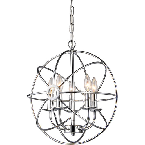 Warehouse Of Tiffany Aidee 5 Light Globe Pendant
