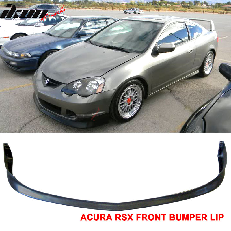 A-Spec Style PU Black Front Lip Spoiler Splitter by IKON MOTORSPORTS 2003 Front Bumper Lip Compatible With 2002-2004 Acura RSX