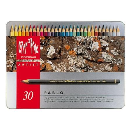 Caran d'Ache, Pablo Permanent Colored Pencils, 30 Colors