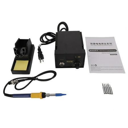 - Zimtown Rework Soldering Station Heater Iron Welding Solder Desolder SMD Tool 5 Tips ESD 937D+