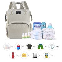 (Additional Gift Presented)Backpack Diaper Bag, Vbiger All-in-One Waterproof Maternity Nappy Bag Large Capacity Travel Backpack for Baby Care