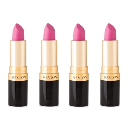 Revlon Super Lustrous Lipstick, Matte #011 Stormy Pink (Pack of 4)