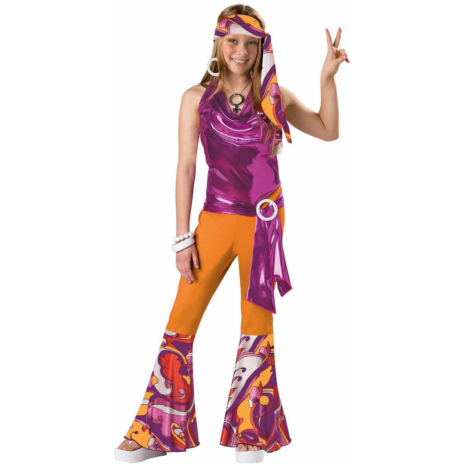 dancing queen girls teen halloween costume walmartcom - 80s Dancer Halloween Costume