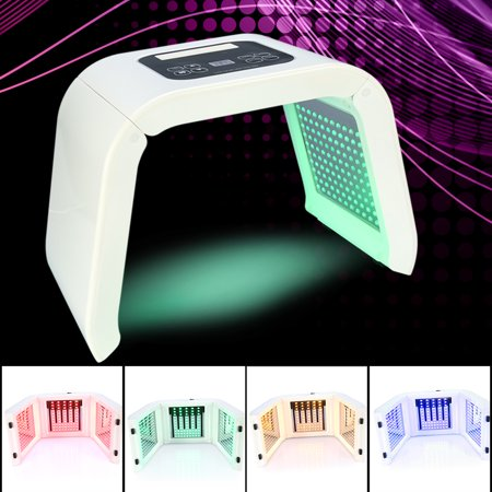 Yosoo PDT 4Colors LED Light Photodynamic Facial Skin Care Rejuvenation Photon Therapy Machine US Plug,Photodynamic Skin Care, PDT LED Light ()
