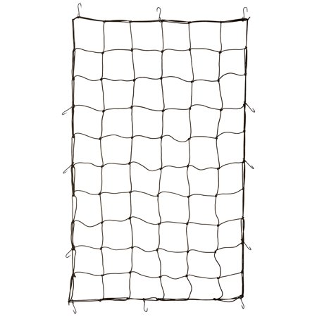 "TruePower Truck Bed Cargo Net 36"" x 60"", with 12 Steel Hooks, Stretches to 60""x90"""