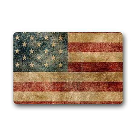 WinHome Patriotic American Flag Doormat Floor Mats Rugs Outdoors/Indoor Doormat Size 30x18 inches