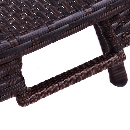 Costway Folding Patio Rattan Chaise Lounge Chair Outdoor Pool side - image 7 of 10