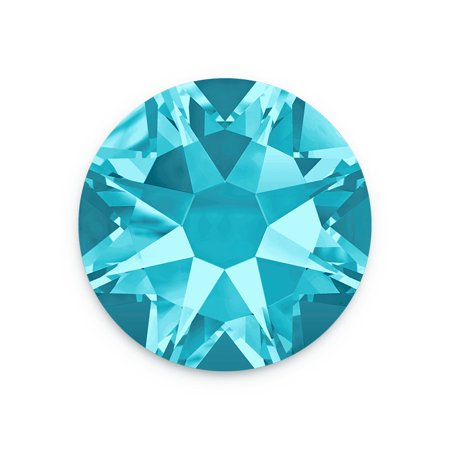 Swarovski Xilion Rose Flat Back 2058 4mm Aquamarine (Package of 10) Aquamarine Satin Swarovski Crystals