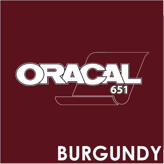 ORACAL 651 Vinyl Roll of Glossy Burgundy - Includes Free Multi-Purpose Squeegee - Choose Your Size