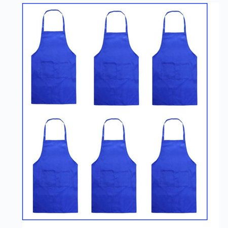 5 Tub Apron - NK 5-Pack Apron with Pockets Waist Apron 29.5-Inch Long Kitchen Cooking Restaurant Bistro Craft Garden Half Aprons for Men, Women, Chef, Baker, Servers, Waitress, Waiter, Craftsmen Black