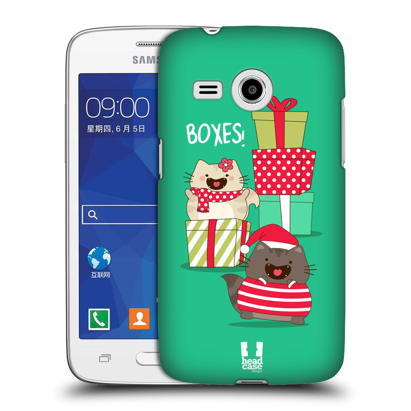 HEAD CASE DESIGNS WILBUR THE CAT ALL-STAR CHRISTMAS HARD BACK CASE FOR SAMSUNG PHONES 6