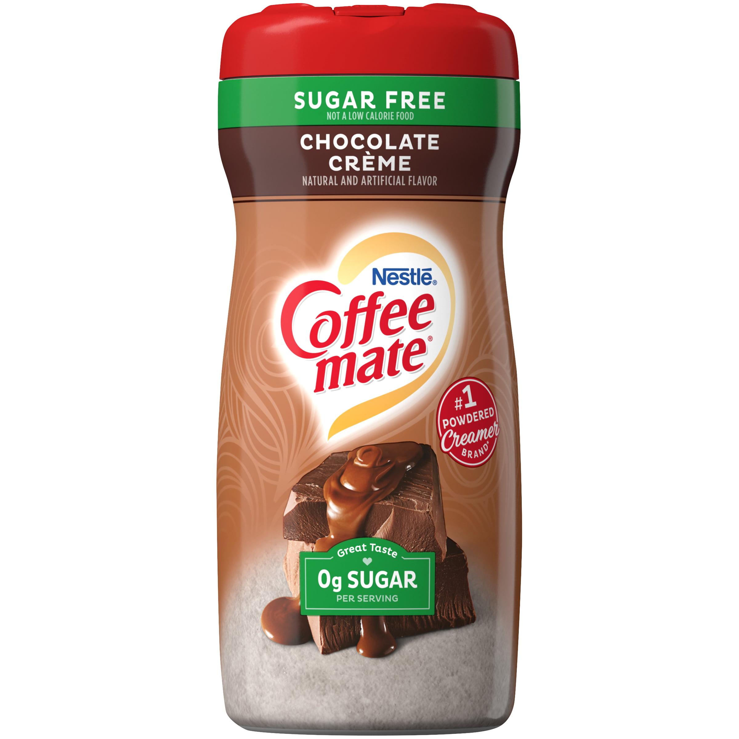 COFFEE MATE Sugar Free Chocolate Crème Powder Coffee Creamer 10.2 Oz. Canister   Non-dairy ...